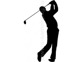 Samolepka - Golfista 06