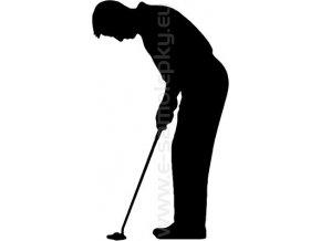 Samolepka - Golfista 07