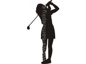 Samolepka - Golfistka
