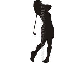 Samolepka - Golfistka 02