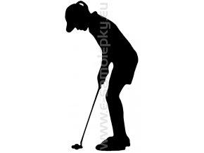 Samolepka - Golfistka 03