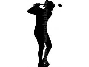 Samolepka - Golfistka 04