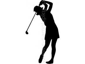 Samolepka - Golfistka 05