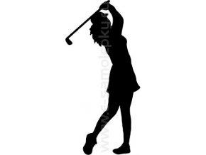 Samolepka - Golfistka 06