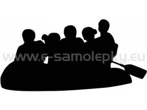 Samolepka - Rafting