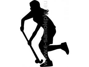 Samolepka - Pozemní hokej- žena