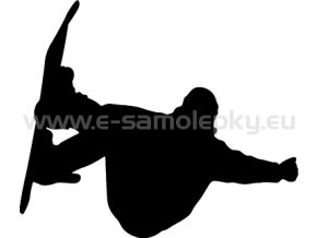 Samolepka - Snowboardista 02