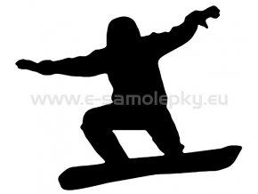 Samolepka - Snowboardista 04