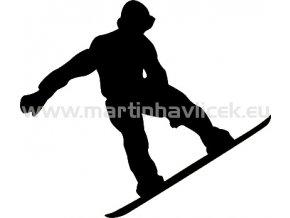 Samolepka - Snowboardista 07