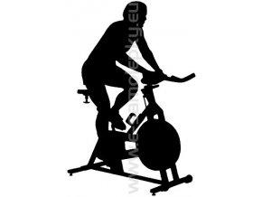 Samolepka - Spinning- muž