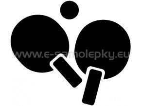 Samolepka - Stolní tenis 03