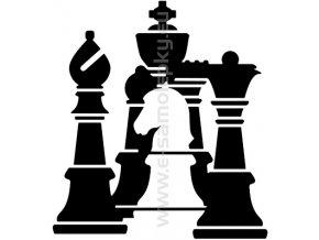 Samolepka - Šachy
