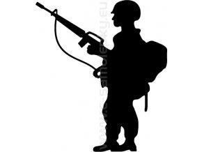 Samolepka - Voják 07