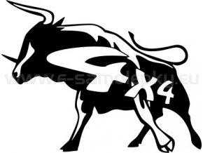Samolepka - 4x4 - Býk