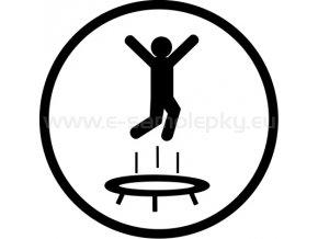 Samolepka - Trampolínky