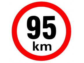 Samolepka - Omezená rychlost 95 km/h