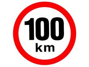 Samolepka - Omezená rychlost 100 km/h