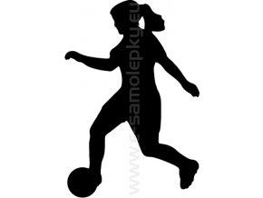 Samolepka - Fotbalistka