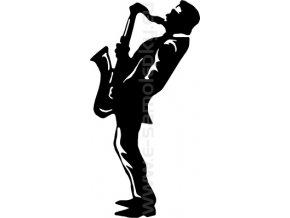 Samolepka - Saxofonista