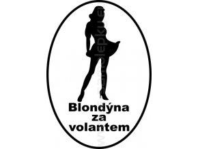 Samolepka - Blondýna za volantem