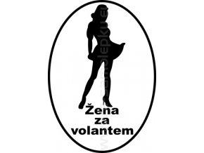 Samolepka - Žena za volantem
