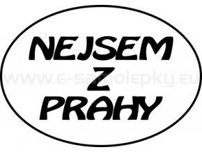 Samolepka - Nejsem z Prahy