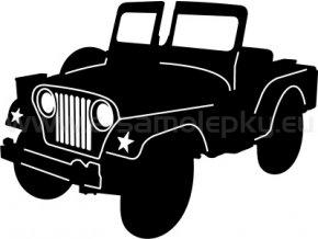 Samolepka - Jeep Willys