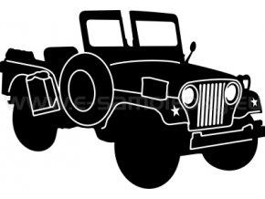 Samolepka - Jeep Willys 02