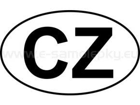 Samolepka - MPZ - Česká republika - CZ - BEZ BÍLÉHO PODKLADU