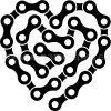 Samolepka - Cyklistovo srdce