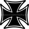 Samolepka - Maltézský kříž