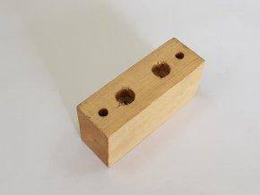 """Dřevěný držák vzduchového omezovače dveří (""""hrušky"""")"""