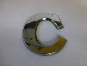 Plastické písmeno označení typu na karoserii - C