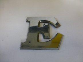 Plastické písmeno označení typu na karoserii - E
