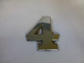 Plastické číslo označení typu na karoserii - 4