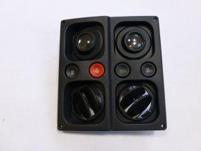 Stropní výdech ventilace s osvětlením - řada 900