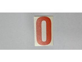 Samolepka - číslice oranžová č.0