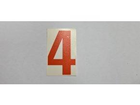 Samolepka - číslice oranžová č.4