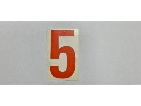 Samolepka - číslice oranžová č.5