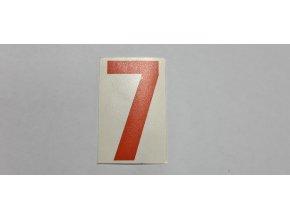 Samolepka - číslice oranžová č.7