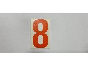 Samolepka - číslice oranžová č.8
