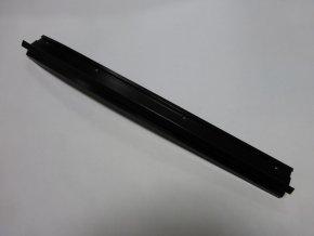 Zadní koncový díl okapní hliníkové lišty - pravý / černý