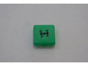 Čtvercová kontrolka s označením - zelená / uzávěrka mezinápravového diferenciálu