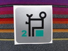 Symbol piktogram - 2 vyhrazená místa (větší)