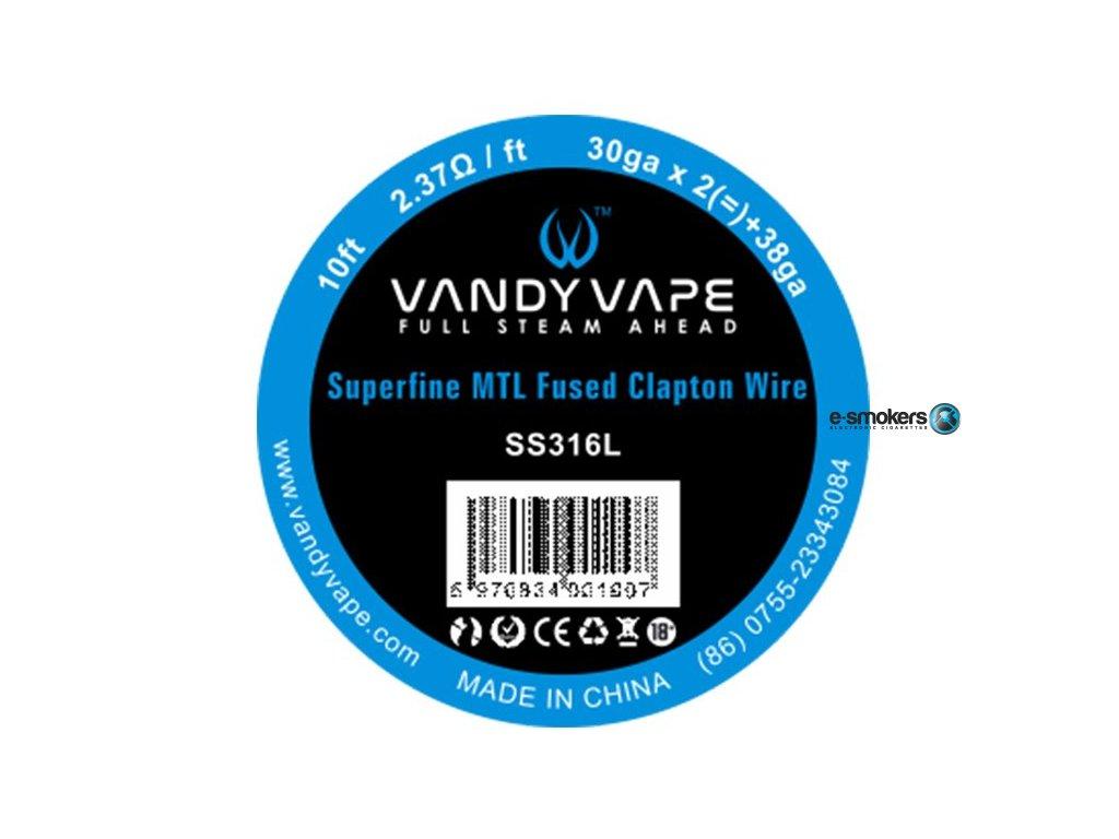 vandy vape superfine mtl odporovy drat ss316 3m