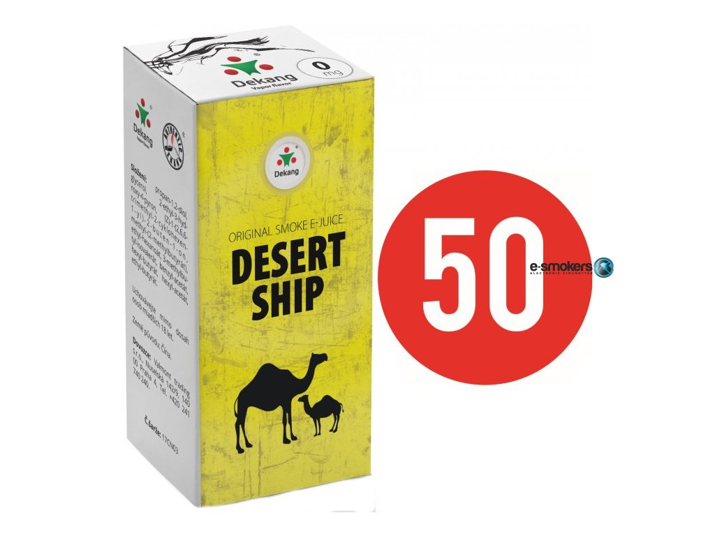 liquid dekang fifty desert ship 10ml 0mg