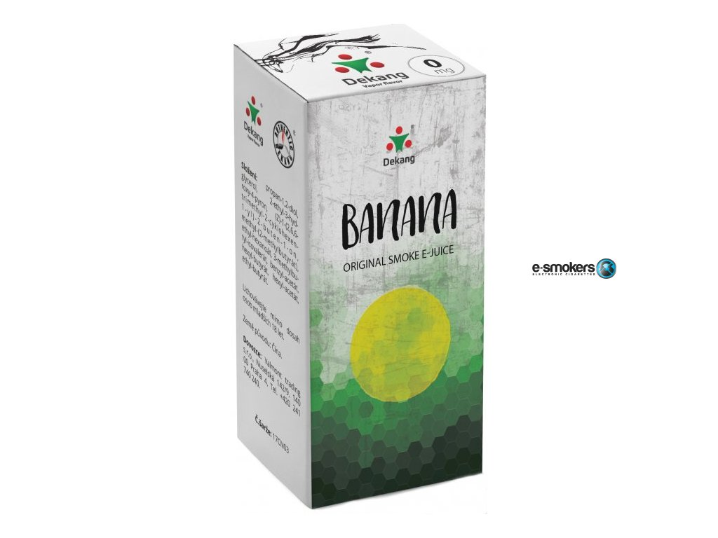 liquid dekang banana 10ml 0mg banan
