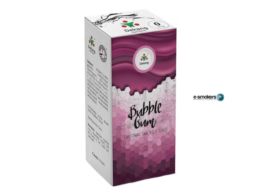 liquid dekang menthol bubble gum 10ml 0mg mentolova zvykacka