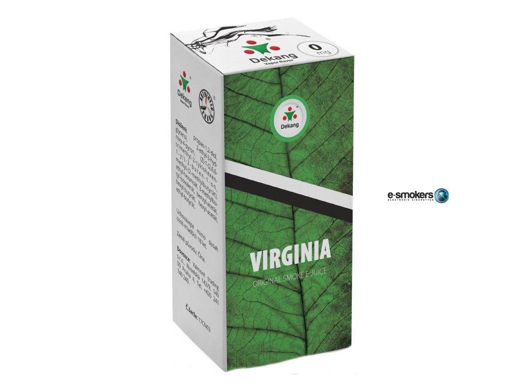 liquid dekang virginia 10ml 0mg virginia tabak