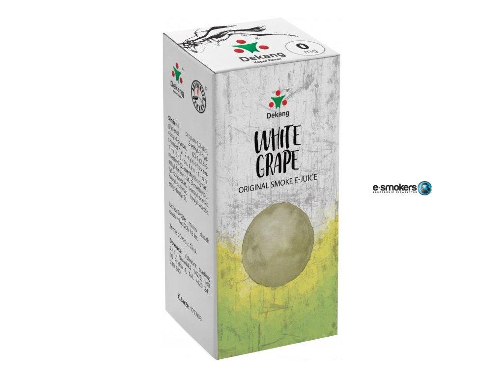 liquid dekang white grape 10ml 0mg hroznove bile vino